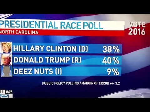Election 2016 – Move over Hillary, Deez Nuts is climbing the poll