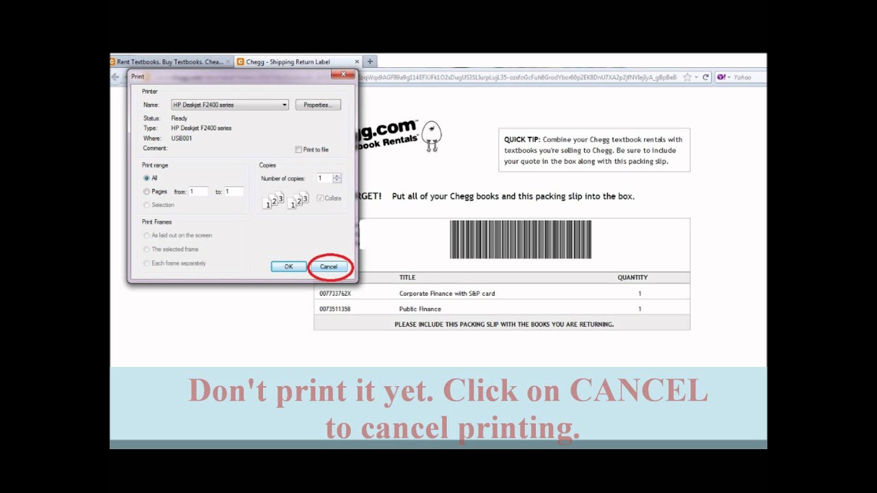 chegg printing labels tip youtube