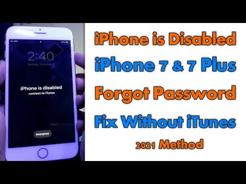 iPhone 7 Password Forgot iPhone is Disabled How To Unlock Without iTunes...