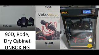 Canon 90D, Rode Video Micro an…