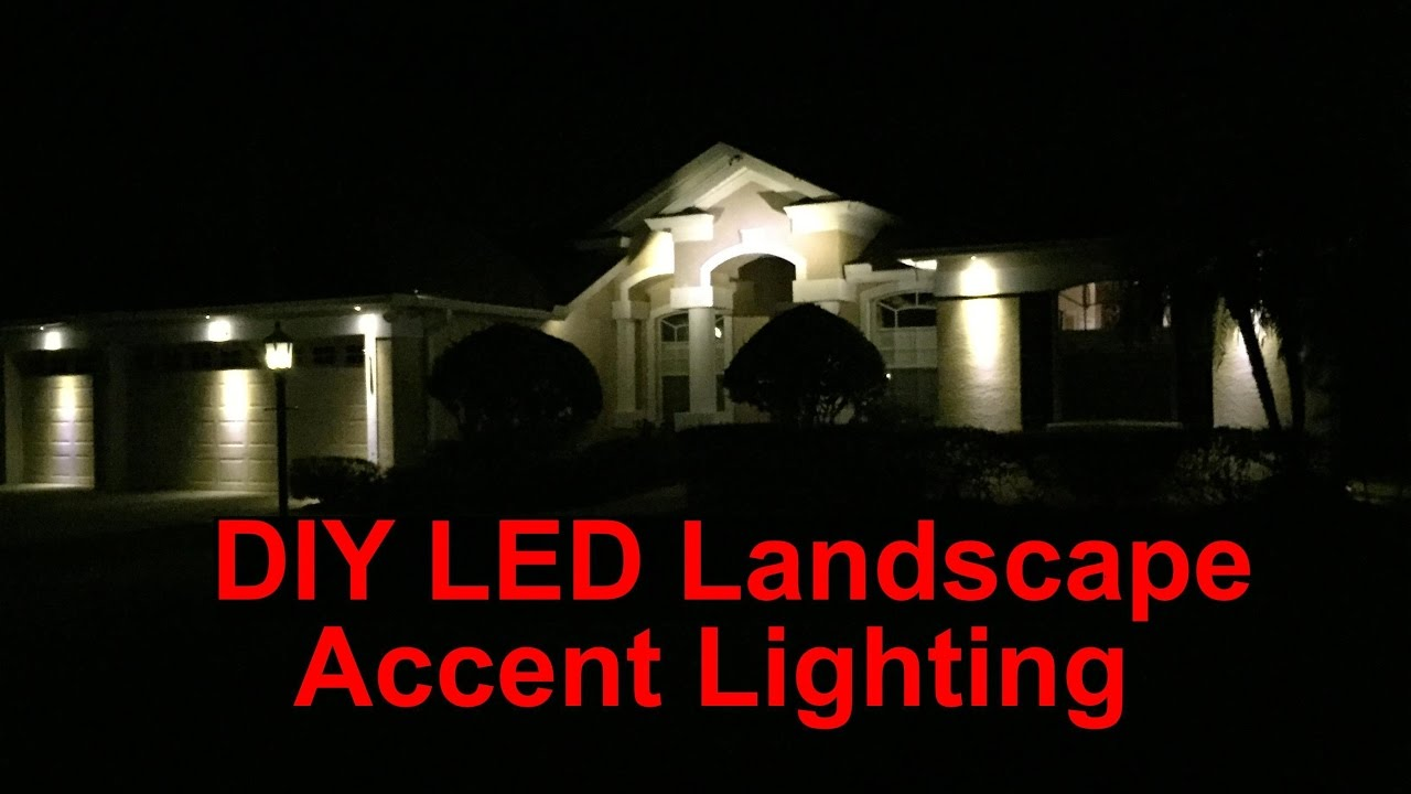 Diy led landscape accent lighting youtube aloadofball Choice Image