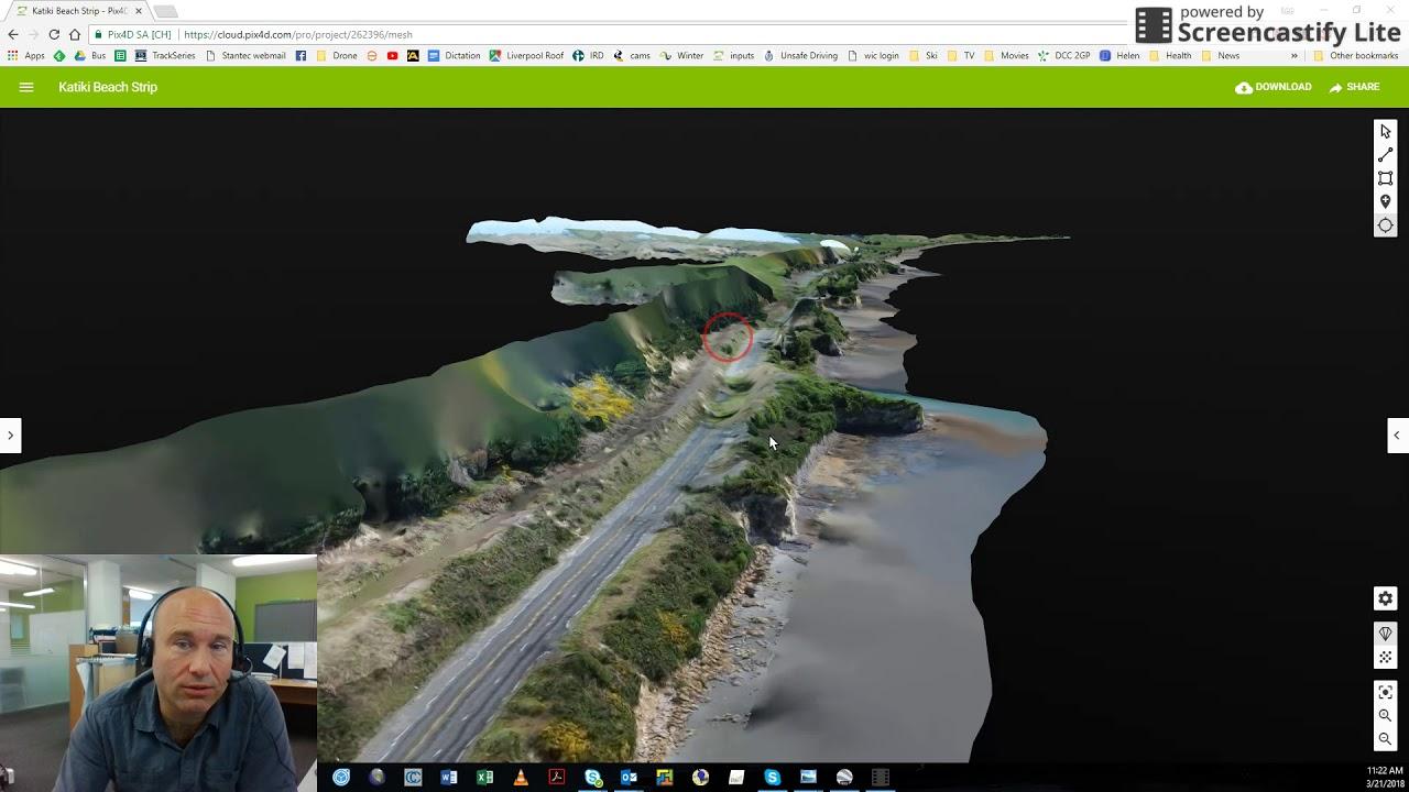 Katiki Beach Pix4D drone inspection photos