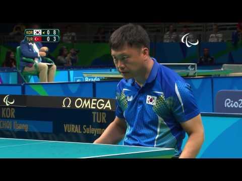 Table Tennis | KOR vs TUR | Men's Singles - Class 4 Group C | Rio 2016