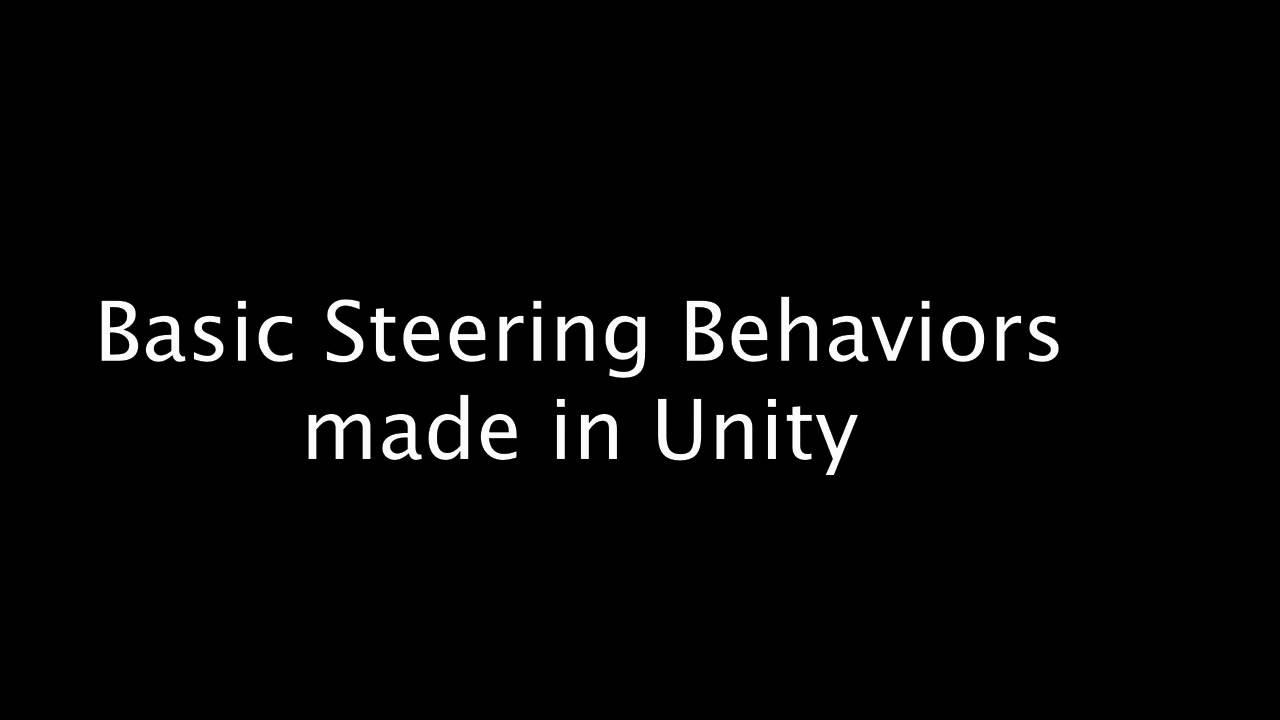 Steering Behaviors Unity
