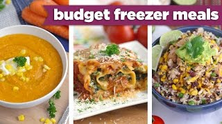 Budget Freezer Meals for the Slow Cooker & Oven! Healthy Dinner Recipes - Mind Over Munch