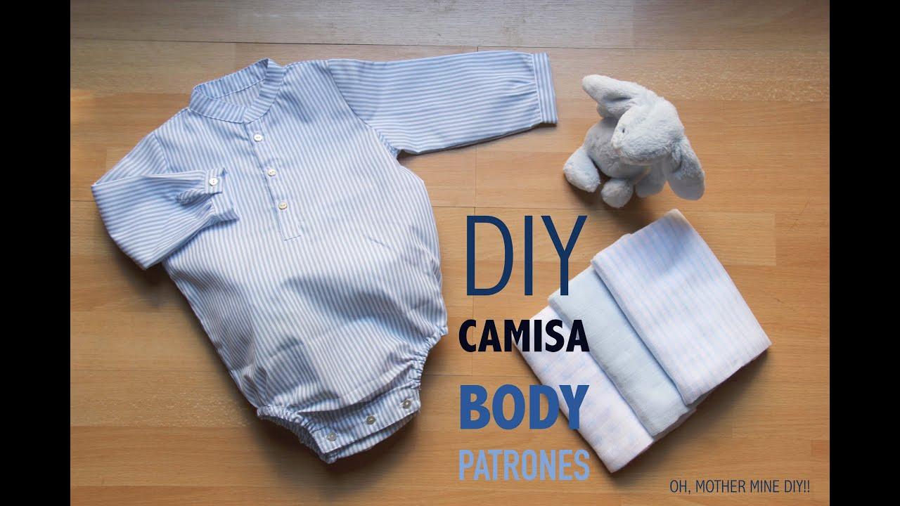 00a9800cc DIY Como hacer body camisa bebe (patrones gratis) - YouTube