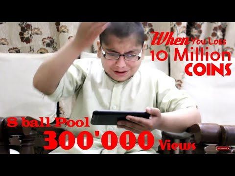 When You Lose 10 Million coins in 8 Ball Pool Funny Clip  |MrShkAbdullah