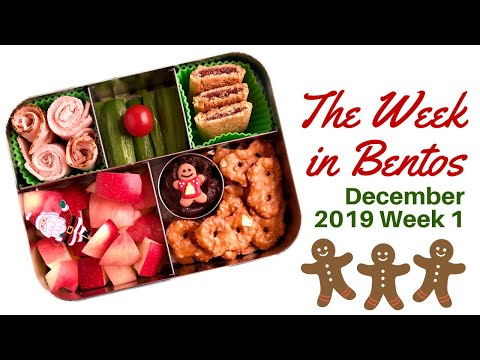 A Week Of Real-life Christmas Bento Boxes -- See The Lunches I Packed For My Son!
