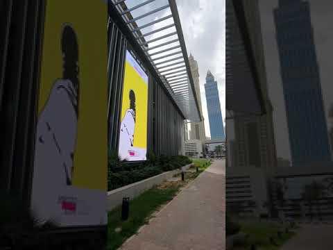 Elevision × Emerging Scene Digital Art Gallery broadcast in DIFC, Dubai.
