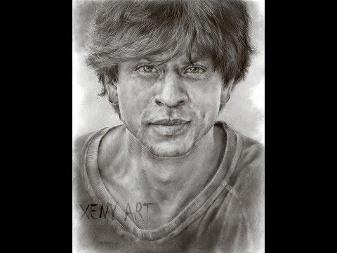 sketching shah rukh khan part 2 srk bollywood drawing portrait