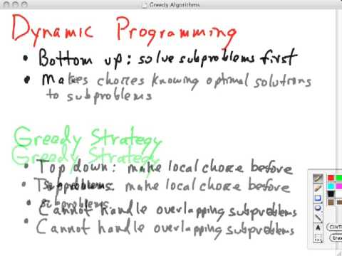 Topic 13 A Greedy Algorithms and DP