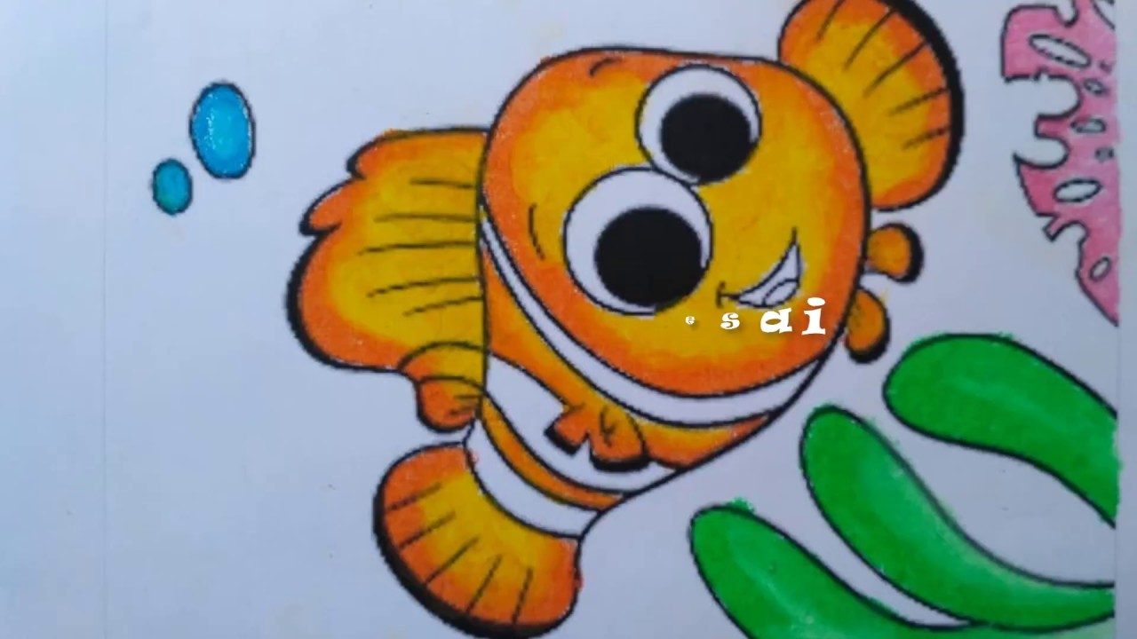 Mewarnai Ikan Nemo Coloring Pages For Kids Nemo Clownfish Download