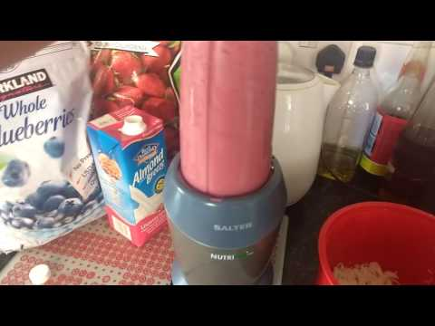 Adding Rice To A Smoothie (white Rice, Strawberry & Blueberries)