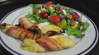 Cooking With Frank: Bacon Wrapped Tilapia With Arugula Fruit Salad & Candied Pecans