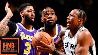 Los Angeles Lakers vs San Antonio Spurs - Full Game Highlights   November 3, 2019-20 NBA Season