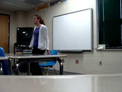Ascha Lee,  junior year Skyline High School forensics, Pratt, Kansas, February 9, 2013