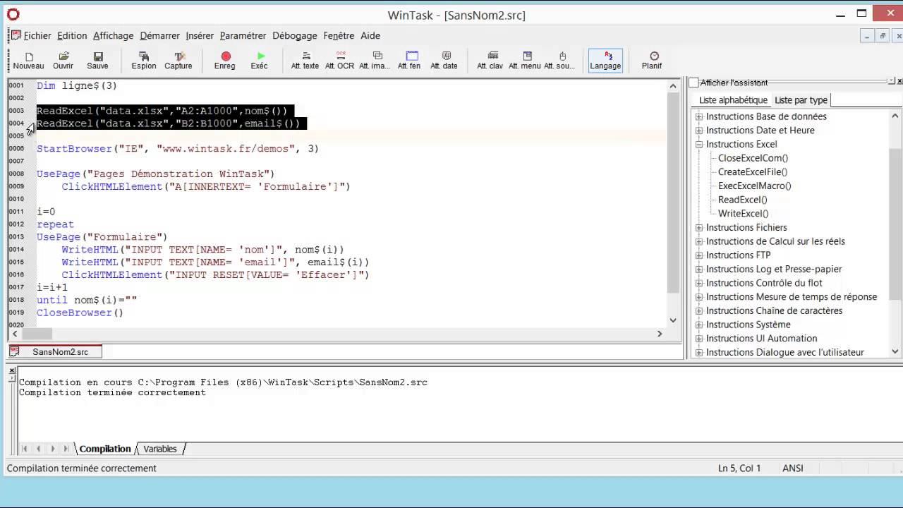 Comment utiliser readexcel pour lire ligne ligne un fichier excel youtube - Comment utiliser un araseur pour lino ...