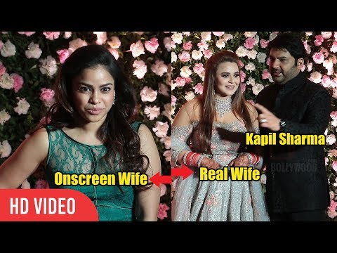 Kapil Sharma Onscreen Wife Sumona Chakravarti at Kapil Sharma's Wedding Reception
