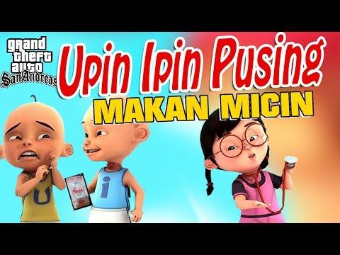 Upin Ipin Kids Zaman Now , Makan micin Di warnet GTA Lucu