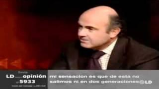 Luis de Guindos, Ministro de Economía. Liberalización de arrendamientos urbanos