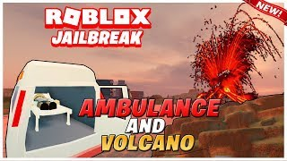 Roblox Jailbreak Volcano 2B Update!🌋 | AMBULANCE CAR 🚑| NEW Spoiler and More!| Full Review!