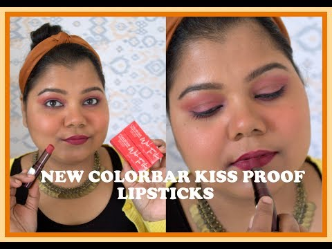 *new*-colorbar-kissproof-lipstick-i-review,-swatches,-comparison-i-with-&-without-makeup-i-#colorbar