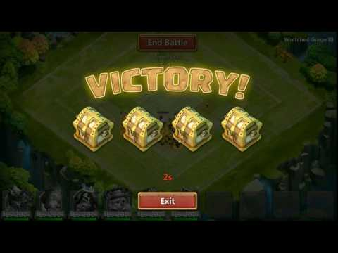 Castle Clash Wretched Gorge 3 Solo Guid (helping Guild Members)
