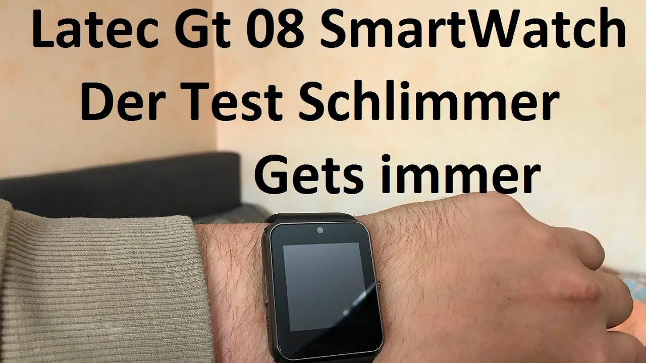 latec gt 08 smartwatch test schlimmer geht immer deutsch. Black Bedroom Furniture Sets. Home Design Ideas
