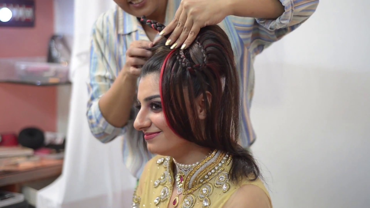 indian western bridal - jayshree brahmbhatt - hairstyle - youtube