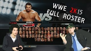 WWE 2K15 FULL ROSTER, ROSTER COMPLETO DATI TECNICI SUPERSTARS DIVAS MANAGER XBOX 360 ITA