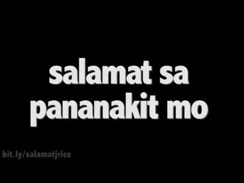 """J Rice - """"Salamat Sa Pananakit Mo"""" [Official Lyric Video] (Original Song)"""