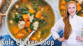 Sweet Potato Kale Chicken Soup