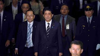 Abe revises key date during cronyism scandal grilling