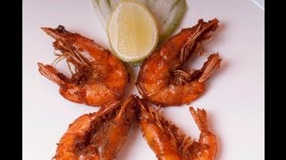Crispy Fried Shrimp - Prawns with Shell on - By Vahchef @ Vahrehvah.com