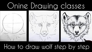 How To Draw Wolf Art | Online Drawing Class