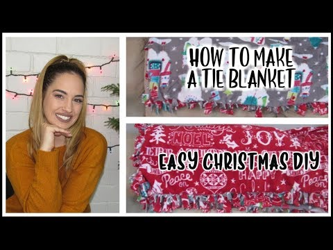 how-to-make-a-fleece-tie-blanket-|-no-sew