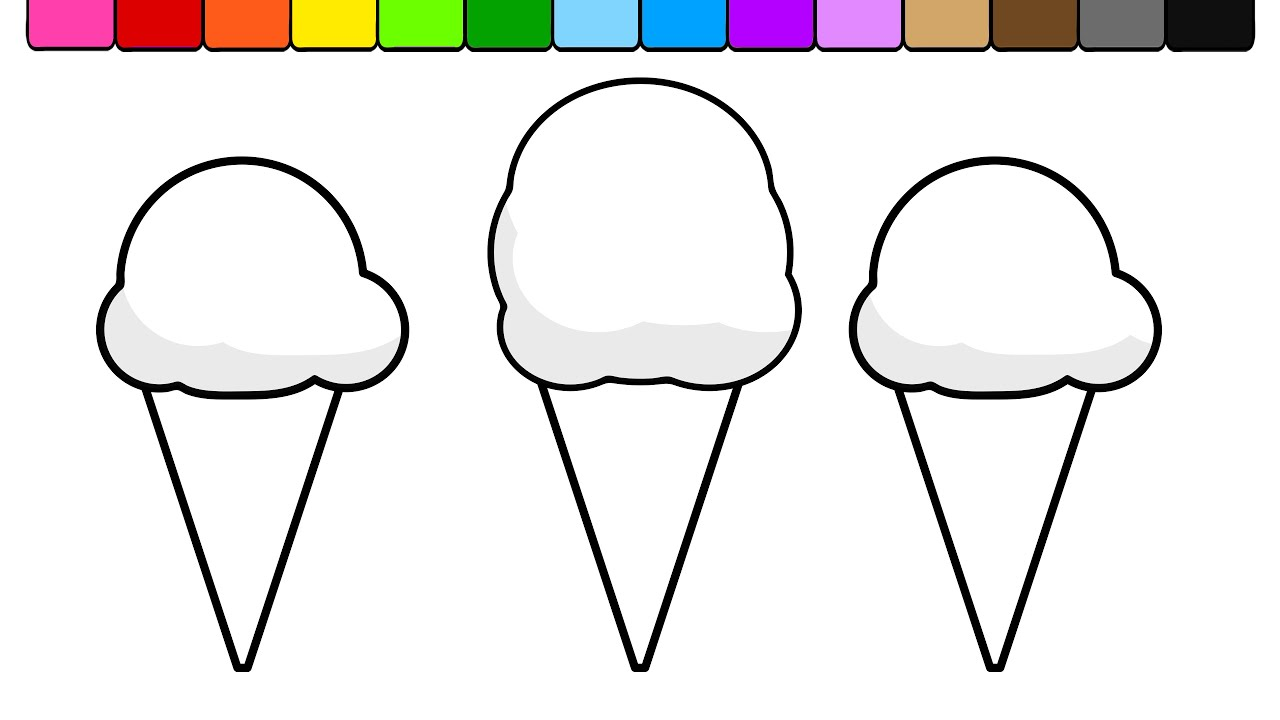learn colors for kids  this summer rainbow ice cream