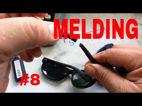 Plastic Repair Welding Melding Reinforced with Metal Demo DIY (#8) sunglasses
