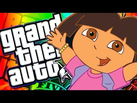The ROAST of Dora the Explorer! - GTA 5 with The Crew!