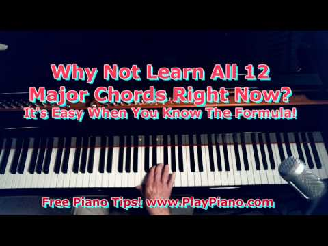 Learn All 12 Major Piano Chords Fast!