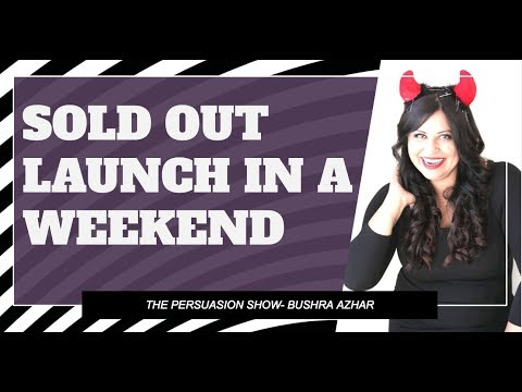 Sold Out Launch in a weekend - yes launch your program in a weekend
