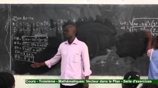 Cours - Troisième - Mathématiques : Vecteur dans le plan - Exercice 2