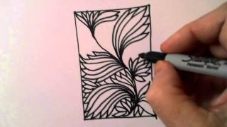 Freehand Space-fillilng Patterns 5: Dense Leaf Design 2