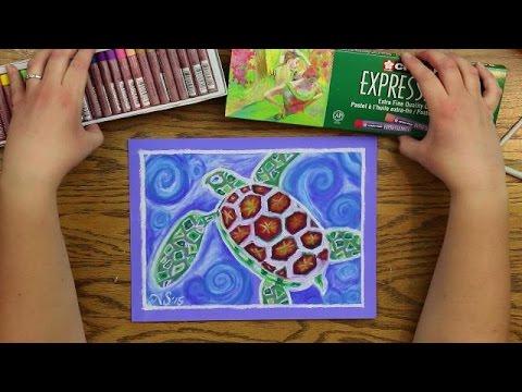 Oil Pastel Lesson - SEA TURTLE