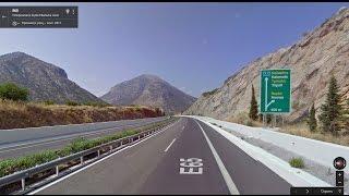 Часть 37. Дорога Коринф - Триполис. Part 37. Road Corinth - Tripoli(Картографические данные: Google, DigitalGlobe Map data : Google, DigitalGlobe Видео создано на основе дорожных панорам и Карт Google..., 2017-01-24T15:37:21.000Z)