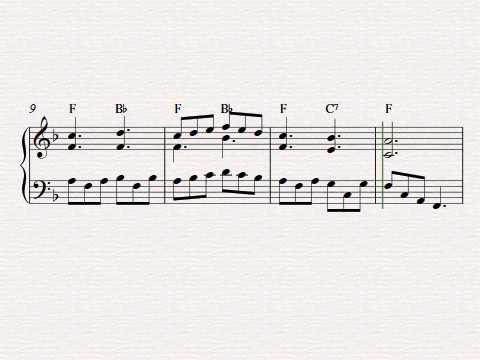 Free easy piano sheet music - Plaisir D'Amour