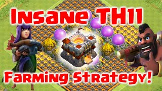 Clash of Clans - Insane TH11 Farming Strategy | Level 6 Hog Riders Future Update Strategy