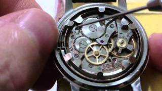 How I let down a mainspring of a pocket watch and wrist watch