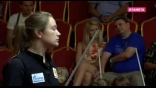 Русский бильярд женский финал чемпионата мира Ростов   Final of the World Cup women