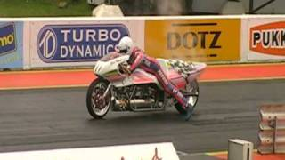[original Hq] Eric Teboul - Rocket Bike 5.232 Seconds (world Record!) Santa Pod 2010 Fia Main Event